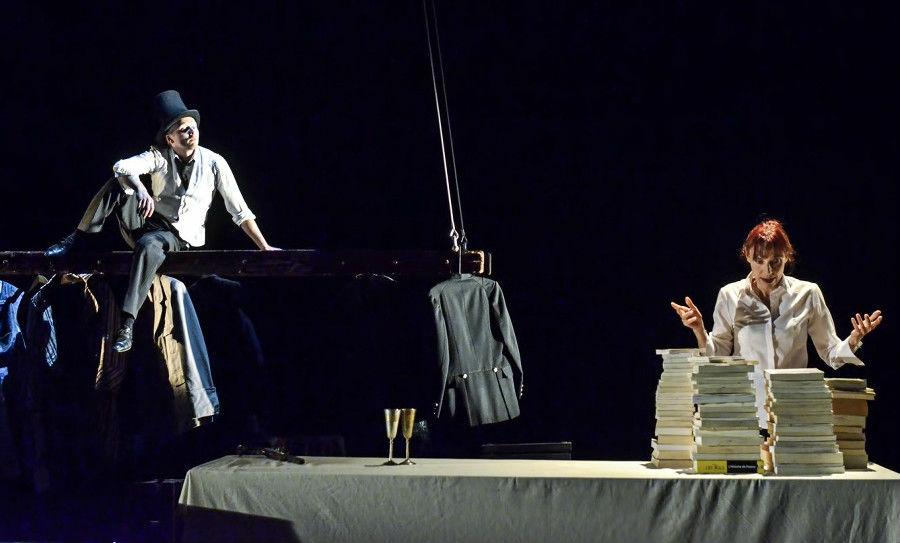 Au Banquet de Marianne/Danielle Rochard et Emmanuel Chanal sont Victor Hugo et Montesquieu